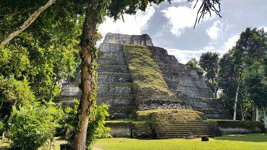 pyramid in Yaxha Petén Guatemala