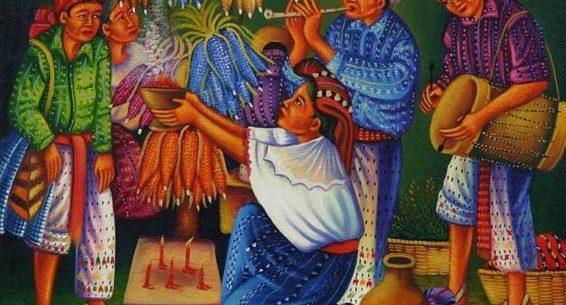 Mayan New Year Celebration according to the solar calendar