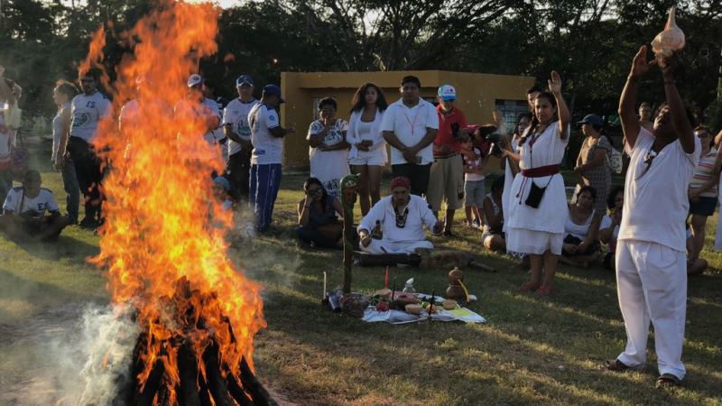 The celebration of Mayan New Year according to the solar calendar